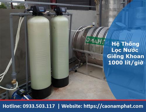 hệ thống xử lý nước giếng 1000l/h